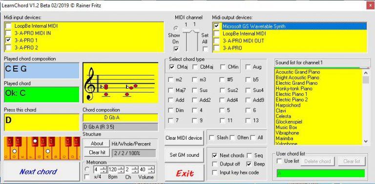 GS Sound Auswahl