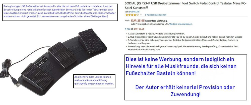 Fussschalter Amazon