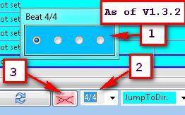 Wähle den Takt der Beat Anzeige ab SongList V1.3.2